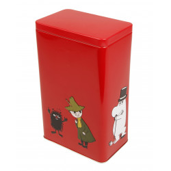 Moomin Characters Coffee Tea Tin Can Red Mamma, Pappa, Troll