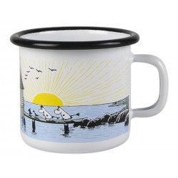 Moomin Enamel Mug Moomin Mellow Wind 0.25 L Muurla