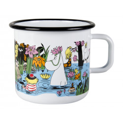 Moomin Enamel Mug Trip to the Pond 0.8 L Muurla