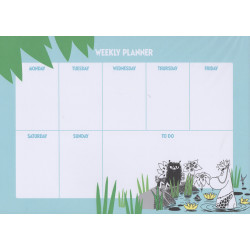Moomin Weekly Planner Jungle 52 Identical Tear-off Sheets