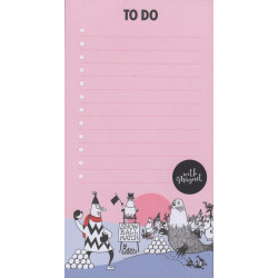 Moomin To Do List Pink with Magnet 52 Identical Tear-off Sheets