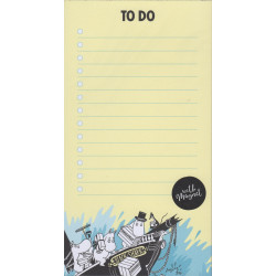 Moomin To Do List Yellow with Magnet 52 Identical Tear-off Sheets