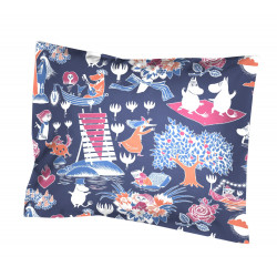 Moomin Pillow Case Magic Dark Blue 55 x 65 cm