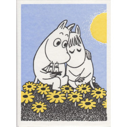 Moomin Greeting Card Letterpressed Moomintroll Snorkmaiden Putinki