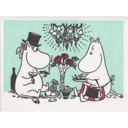 Moomin Greeting Card Letterpressed Moominpappa Moominmamma Putinki