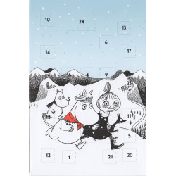 Moomin Advent Postcard Calendar Running
