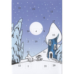 Moomin Advent Postcard Calendar Winter Sledging