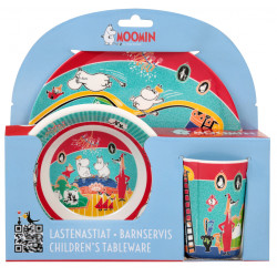 Moomin Boisterous Day Melamine Children Tableware Set 3 pcs