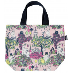 Moomin Launo Canvas Bag Party Pink 28 x 27 x 12 cm