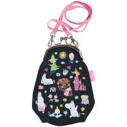 Moomin Juksu Party Pouch Purse Dark Blue
