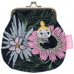 Moomin Sanna Coin Pouch Little My Dreaming Embroidered