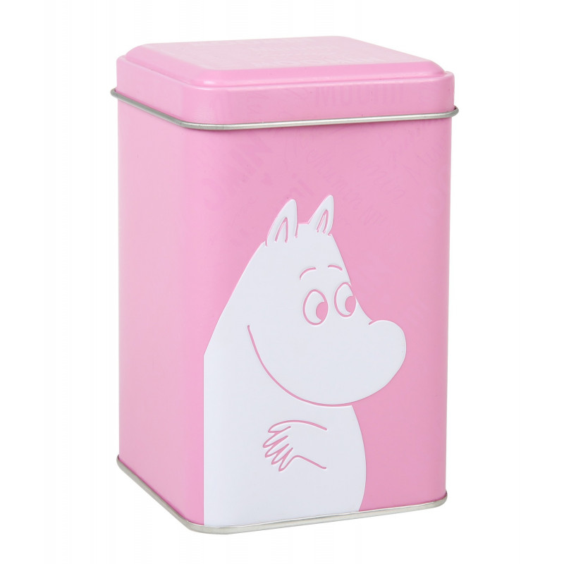Moomin Font Tin Box XS Rose