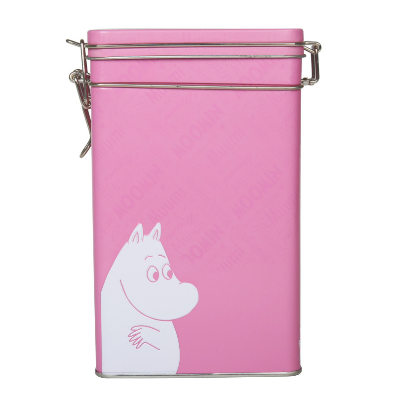 Moomin Font Coffee Tea Tin Box Rose