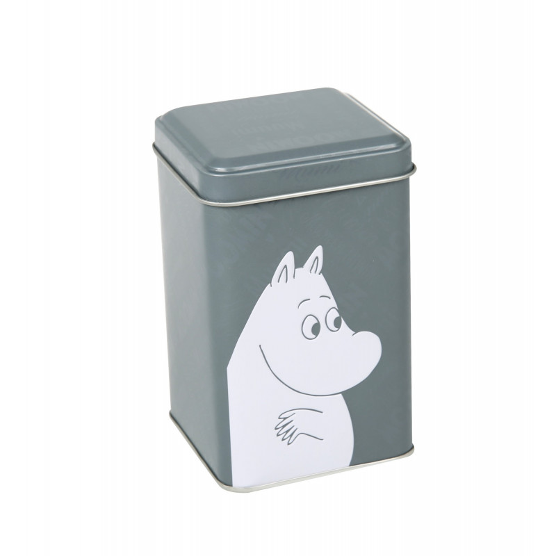 Moomin Font Tin Box XS Grey
