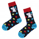 Moomintroll Socks Black with Colorful Balls 37-39