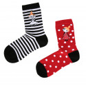 Moomin Little My Black Red Mix and Match 2 pairs Socks 35-38