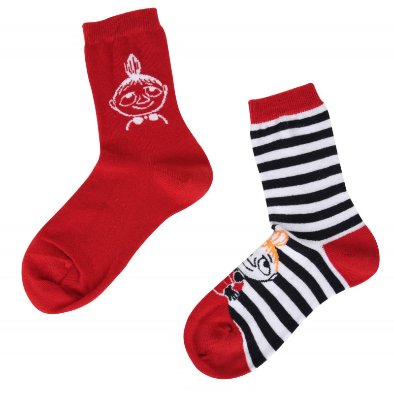 Moomin Little My Stripe Red Mix and Match 2 pairs Socks 35-38