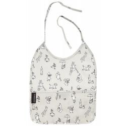 Moomin Baby Bib Oilcloth Grey Tove 100 Celebration 25 x 31 cm
