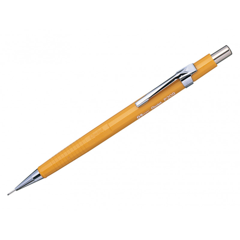 Pentel P209-G Sharp Automatic Mechanical Drafting Pencil Yellow 0.9 mm Japan