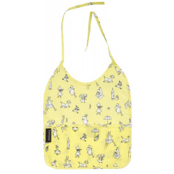 Moomin Baby Bib Oilcloth Yellow Tove 100 Celebration 25 x 31 cm