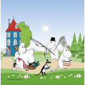 Moomin Napkins Going on Vacation Summer 2018 33 x 33 cm