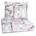 Moomin Duvet Cover Pillowcase Lempimuumi My Hero Pink Finlayson 120 x 160