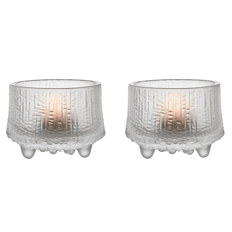 Ultima Thule Tealight Candle Holder 2 pcs Frosted Clear 65 cm