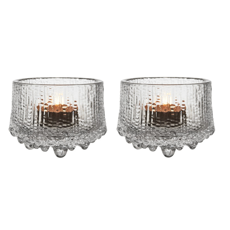 Ultima Thule Tealight Candle Holder 2 pcs Clear 6.5 cm