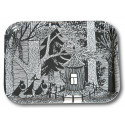 Moomin Birch Tray Cottage in the Woods 43 x 33 cm