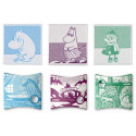 Moomin Introduction to Finnish Mindscape Face Towels Set 3 pcs 30 x 30 cm Finlayson