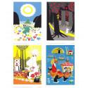 Moomin Set of 4 Posters 24 x 30 cm Putinki