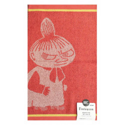Moomin Hand Towel Little My Coral Pink 30 x 50 cm Finlayson