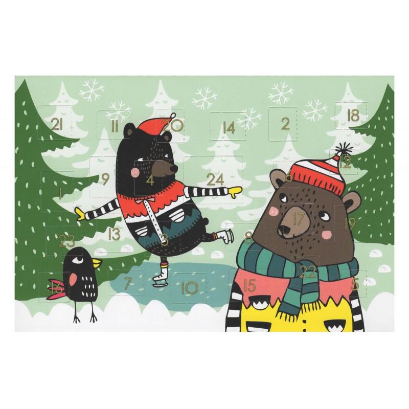 Christmas Advent Calendar Folded Card Mira Mallius Putinki