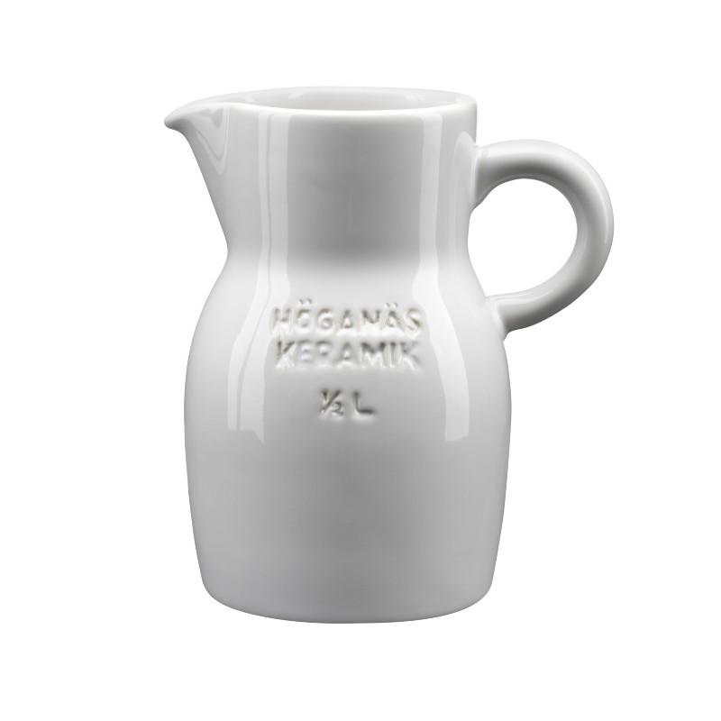 Hoganas Keramik Kanna White Pitcher 0.5 L