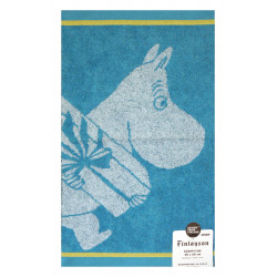 Moomin Hand Towel Moomintroll and Present Turquoise 30 x 50 cm Finlayson