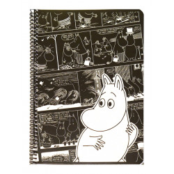 Moomin Spiral Notebook Comics Moomintroll A5 80 Squared Pages 7x7 mm