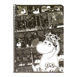 Moomin Spiral Notebook Comics Snorkmaiden A5 80 Squared Pages 7x7 mm