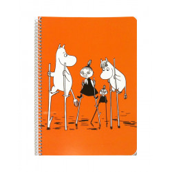 Moomin Spiral Notebook Orange A5 80 Squared Pages 7x7 mm