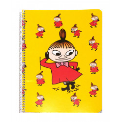 Moomin Spiral Notebook Little My Yellow A5 80 Squared Pages 7x7 mm