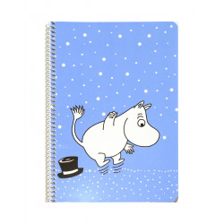 Moomin Spiral Notebook Moomintroll Blue A5 80 Squared Pages 7x7 mm