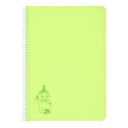 Moomin Spiral Notebook Plastic Covers Little My Lime A5 50 Blank Pages