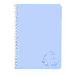 Moomin Spiral Notebook Plastic Covers Moomintroll Blue A5 50 Blank Pages