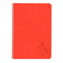 Moomin Spiral Notebook Plastic Covers Little My Red A5 50 Blank Pages