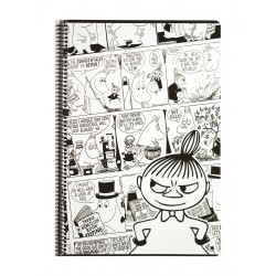 Moomin Spiral Notebook Comics Little My A4 80 Squared Pages 7x7 mm