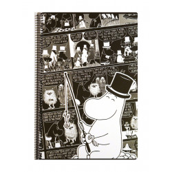 Moomin Spiral Notebook Comics Moominpappa A4 80 Squared Pages 7x7 mm