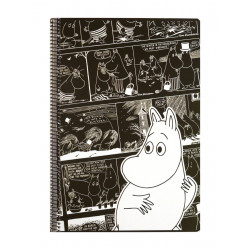 Moomin Spiral Notebook Comics Moomintroll A4 80 Squared Pages 7x7 mm