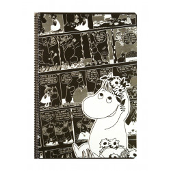 Moomin Spiral Notebook Comics Snorkmaiden A4 80 Squared Pages 7x7 mm