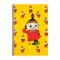 Moomin Spiral Notebook Little My Yellow A4 80 Squared Pages 7x7 mm