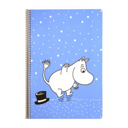 Moomin Spiral Notebook Moomintroll Blue A4 80 Squared Pages 7x7 mm