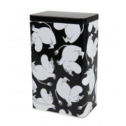 Moomin Tin Box Moomin Troll Cartwheel Black and White